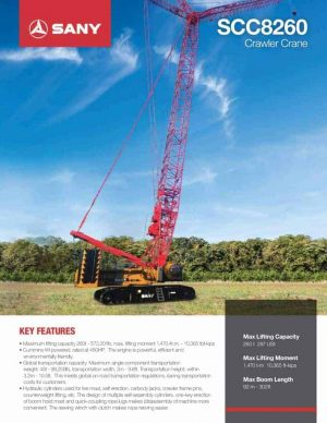 thumbnail of sany-scc8260-crawler-crane-product-guide
