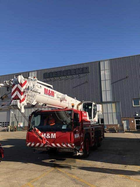 A photo of M&M Mobile Crane Hires's Liebherr LTM1050-3.1