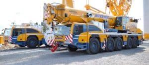 side view of the demag cranes