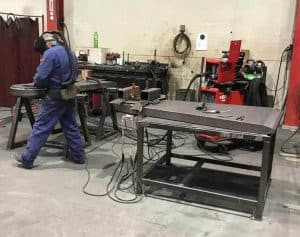 Welder ready to weld parts for Mammoet Focus