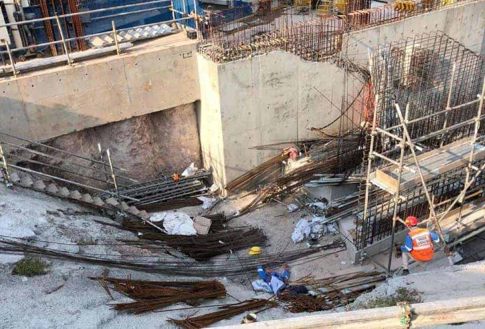 indian worker pronounced dead at site