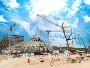 Al Faris works on Expo 2020 site