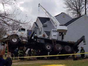 uck Crane Overturned In New Jersey