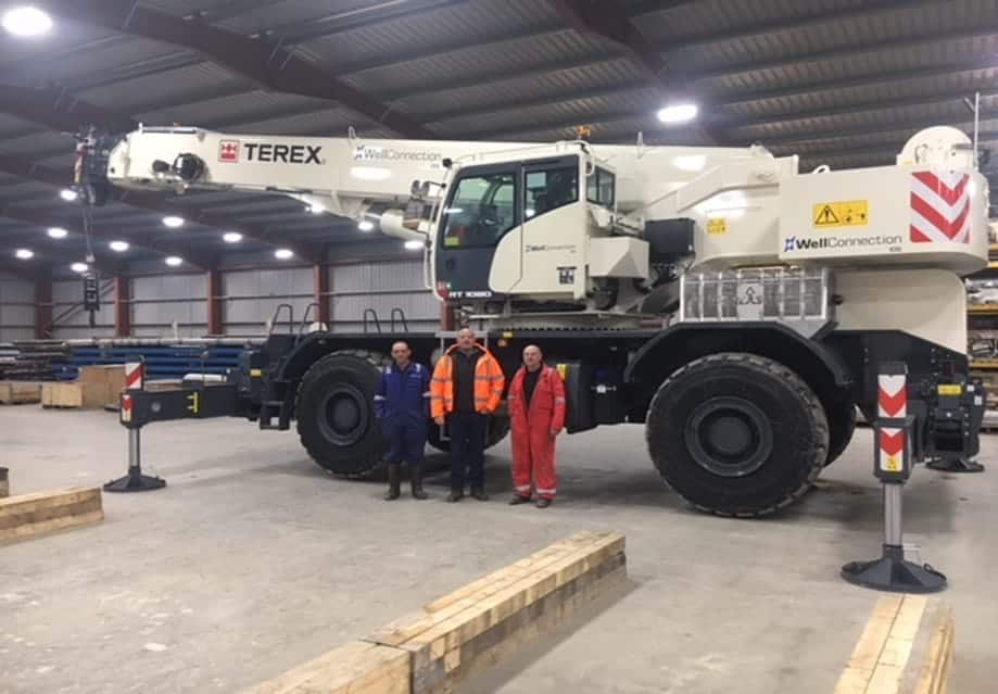Handing over of Terex RT1080 to WellConnection