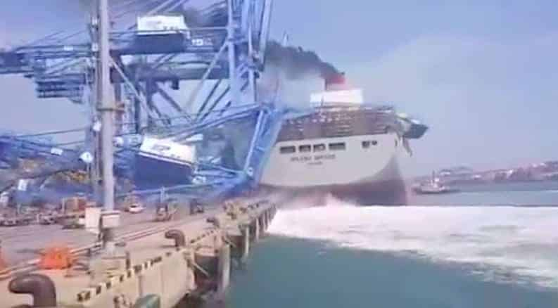 Busan Port Container Accident