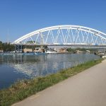 Sarens Installed Bridge At Albert Canal in Belgium