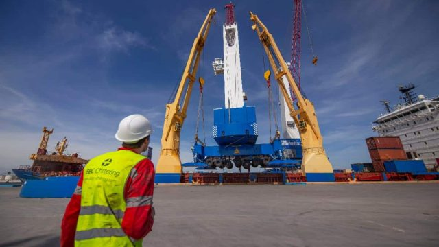 Gottwald Mobile Harbour Crane Arrive In Brownsville